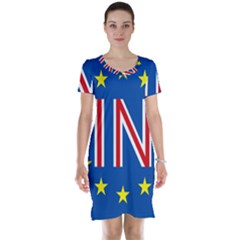 Britain Eu Remain Short Sleeve Nightdress