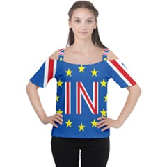 Britain Eu Remain Women s Cutout Shoulder Tee