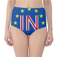Britain Eu Remain High-Waist Bikini Bottoms