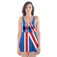 Britain Eu Remain Skater Dress Swimsuit