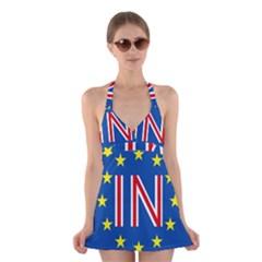 Britain Eu Remain Halter Swimsuit Dress