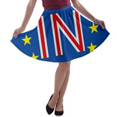 Britain Eu Remain A-line Skater Skirt