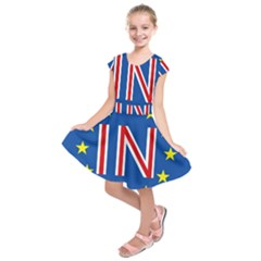 Britain Eu Remain Kids  Short Sleeve Dress