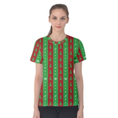 Christmas Tree Background Women s Cotton Tee