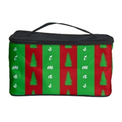 Christmas Tree Background Cosmetic Storage Case