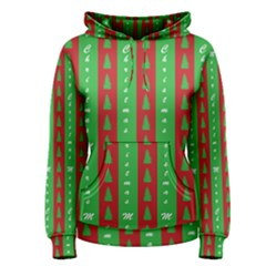 Christmas Tree Background Women s Pullover Hoodie