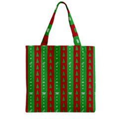 Christmas Tree Background Zipper Grocery Tote Bag