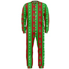 Christmas Tree Background OnePiece Jumpsuit (Men)