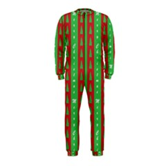 Christmas Tree Background OnePiece Jumpsuit (Kids)