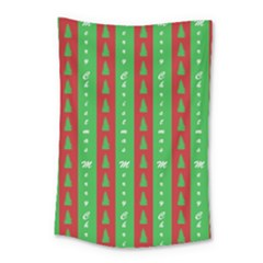 Christmas Tree Background Small Tapestry
