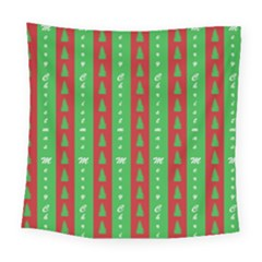 Christmas Tree Background Square Tapestry (large)