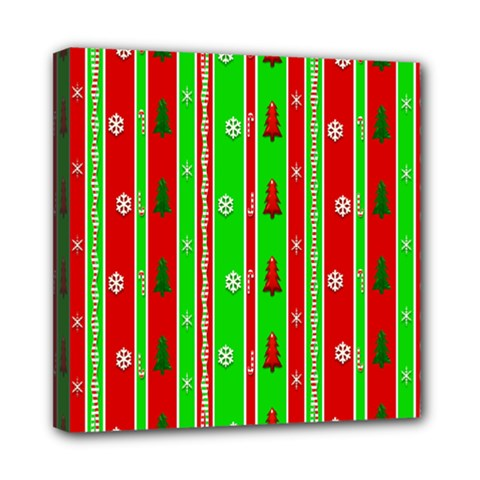 Christmas Paper Pattern Mini Canvas 8  x 8