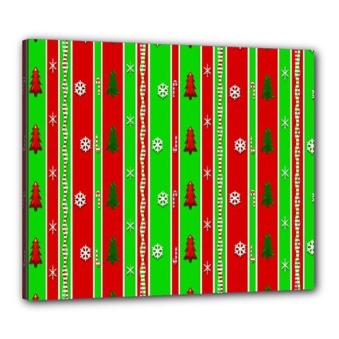 Christmas Paper Pattern Canvas 24  x 20