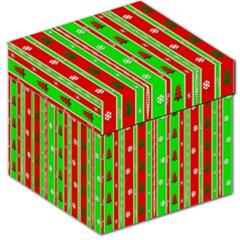 Christmas Paper Pattern Storage Stool 12