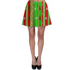 Christmas Paper Pattern Skater Skirt