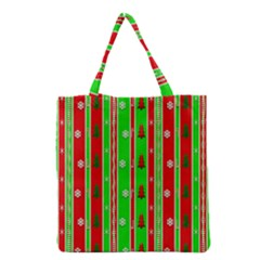 Christmas Paper Pattern Grocery Tote Bag