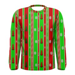 Christmas Paper Pattern Men s Long Sleeve Tee