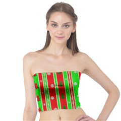 Christmas Paper Pattern Tube Top