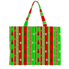 Christmas Paper Pattern Large Tote Bag