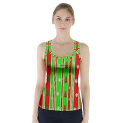 Christmas Paper Pattern Racer Back Sports Top