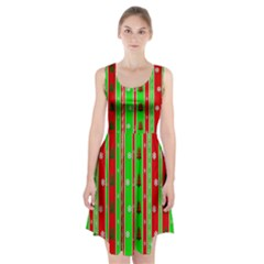 Christmas Paper Pattern Racerback Midi Dress