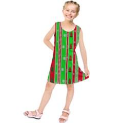 Christmas Paper Pattern Kids  Tunic Dress