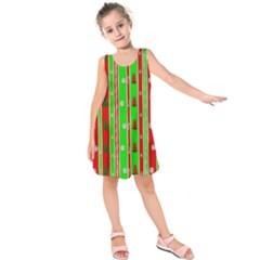 Christmas Paper Pattern Kids  Sleeveless Dress