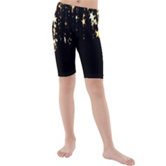Christmas Star Advent Background Kids  Mid Length Swim Shorts