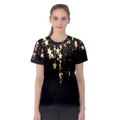 Christmas Star Advent Background Women s Sport Mesh Tee