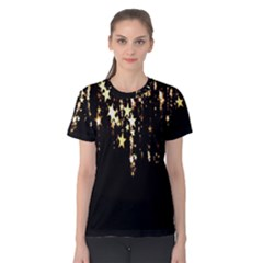 Christmas Star Advent Background Women s Cotton Tee