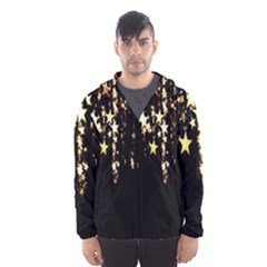 Christmas Star Advent Background Hooded Wind Breaker (men)