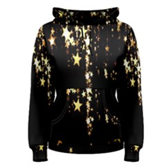 Christmas Star Advent Background Women s Pullover Hoodie