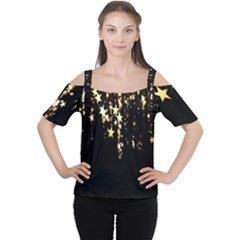 Christmas Star Advent Background Women s Cutout Shoulder Tee