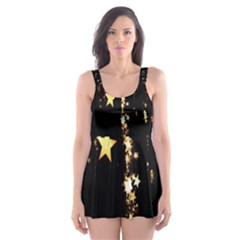 Christmas Star Advent Background Skater Dress Swimsuit