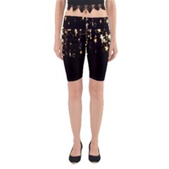 Christmas Star Advent Background Yoga Cropped Leggings