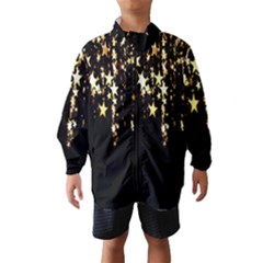 Christmas Star Advent Background Wind Breaker (Kids)