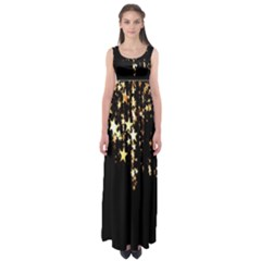Christmas Star Advent Background Empire Waist Maxi Dress