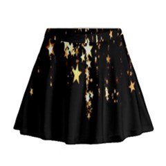 Christmas Star Advent Background Mini Flare Skirt