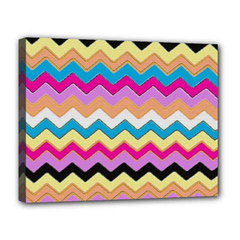 Chevrons Pattern Art Background Canvas 14  x 11