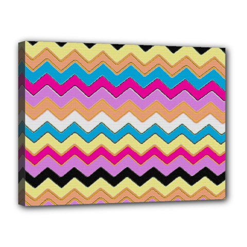 Chevrons Pattern Art Background Canvas 16  x 12