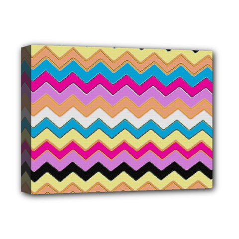 Chevrons Pattern Art Background Deluxe Canvas 16  x 12