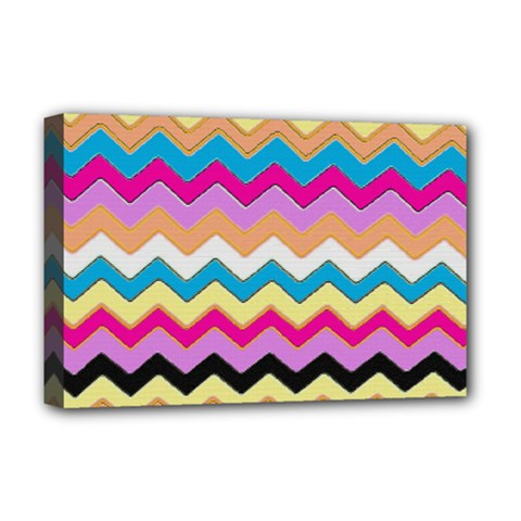 Chevrons Pattern Art Background Deluxe Canvas 18  x 12