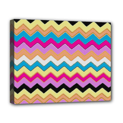 Chevrons Pattern Art Background Deluxe Canvas 20  x 16