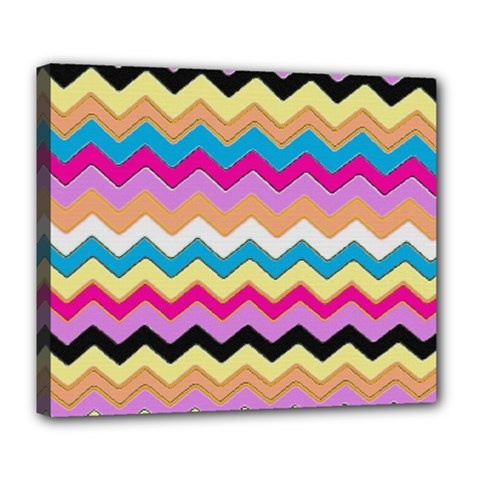 Chevrons Pattern Art Background Deluxe Canvas 24  x 20