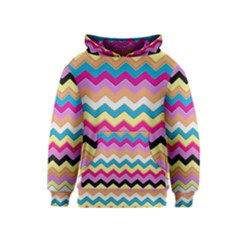Chevrons Pattern Art Background Kids  Pullover Hoodie