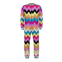 Chevrons Pattern Art Background Onepiece Jumpsuit (kids)