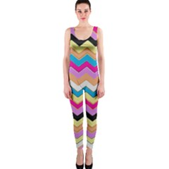 Chevrons Pattern Art Background OnePiece Catsuit