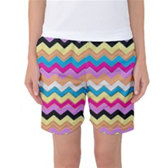 Chevrons Pattern Art Background Women s Basketball Shorts