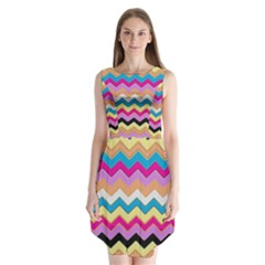Chevrons Pattern Art Background Sleeveless Chiffon Dress