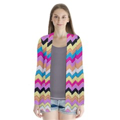 Chevrons Pattern Art Background Cardigans